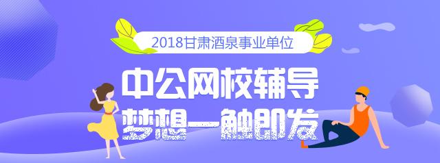 2018甘肃酒泉事业单位
